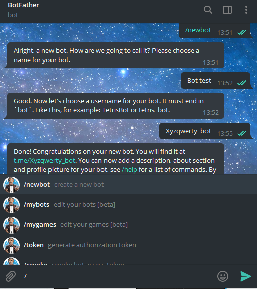 How to create a Telegram chatbot